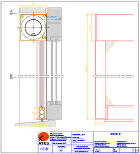Schémas techniques stores coffre Série 8000 (zip)