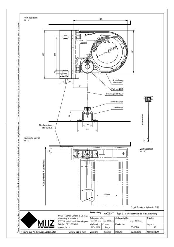 Technische Zeichnung Fenstermarkisen AKZENT S Nische (pdf)