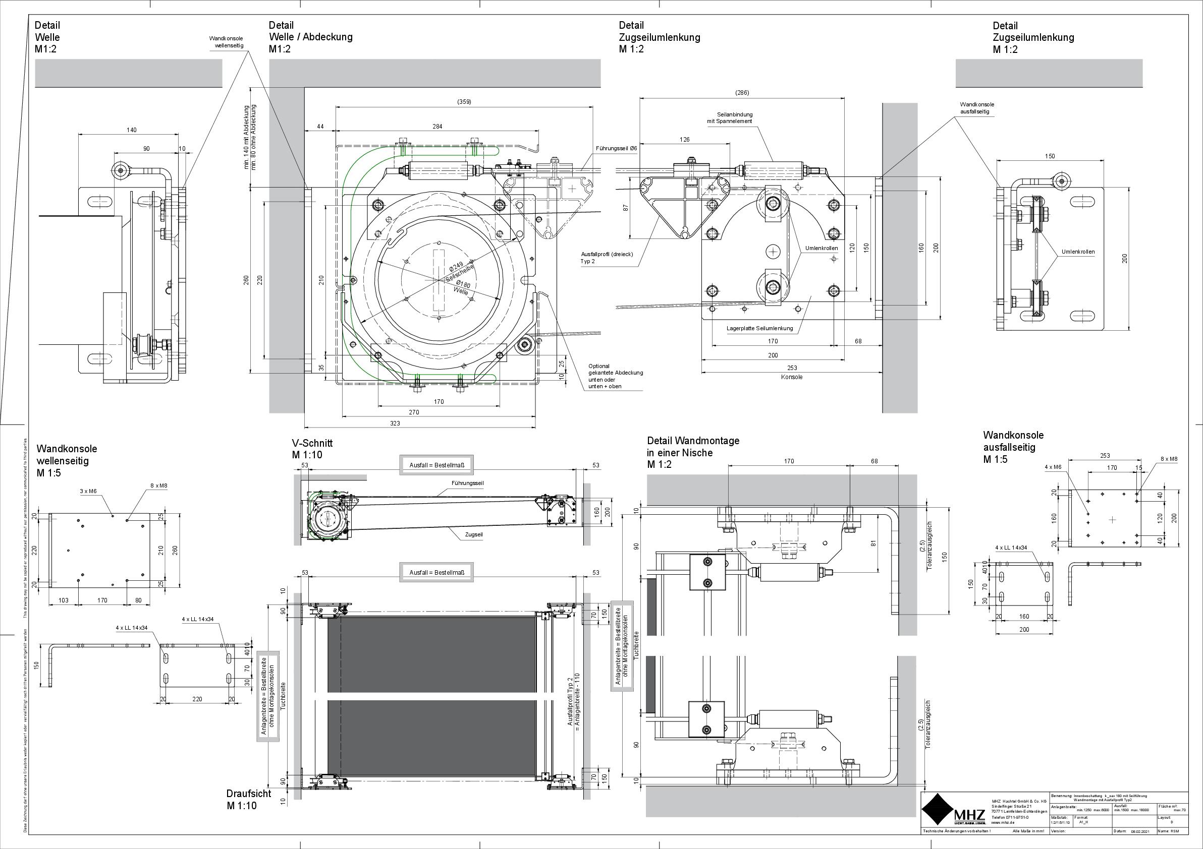 Technische Zeichnung pdf Beschattung k_oax 180