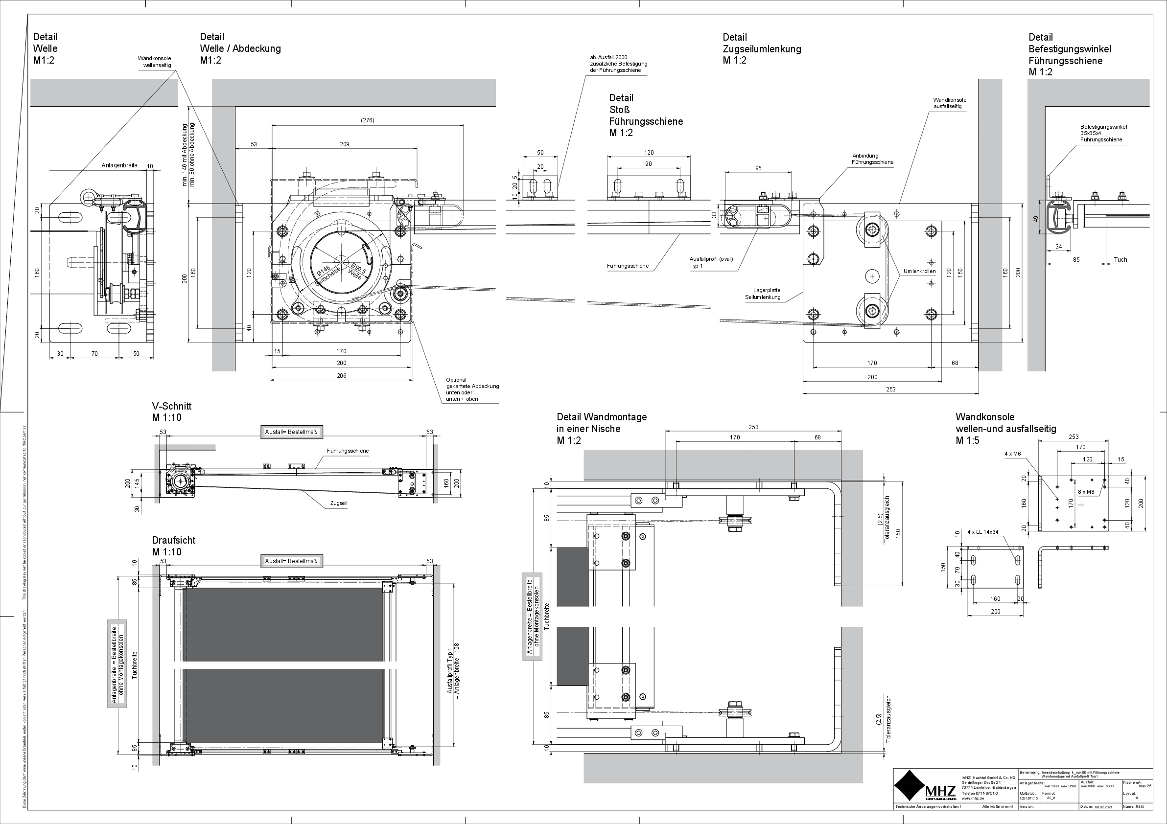 Technische Zeichnung Beschattung k_oax 90 (pdf)