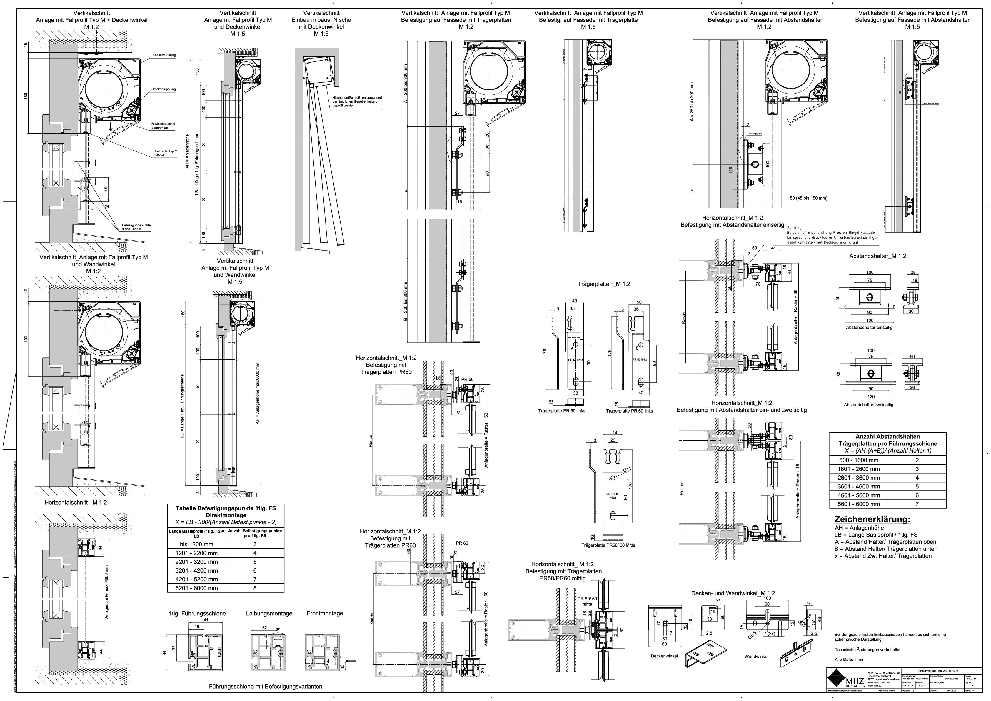 Technische Zeichnung pdf Fenstermarkisen zip_2.0 48-1073